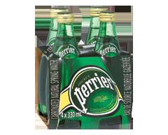 Image du produit Perrier - Eau de source naturelle gazéifiée régulier, 4 x 330 ml