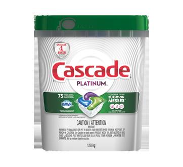 Platinum Actionpacs détergent pour lave-vaisselle, 75 unités, parfum frais
