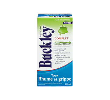 Image 2 du produit Buckley - Complet extra fort toux, rhume et grippe, anti-mucosité sirop, 250 ml
