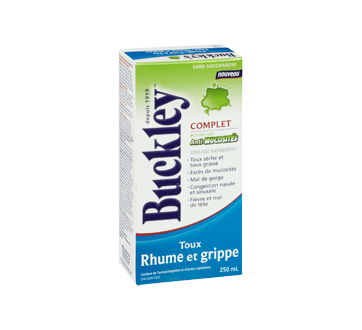 Image 3 du produit Buckley - Complet extra fort toux, rhume et grippe, anti-mucosité sirop, 250 ml