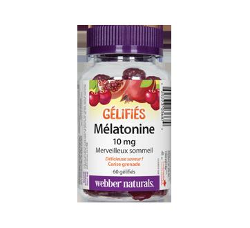 Image du produit Webber Naturals - Mélatonine gélifiés 10 mg, cerise grenade, 60 unités