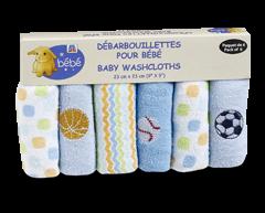 Image du produit PJC Bébé - Débarbouillettes pour bébé, paquet de 6