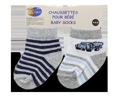 Image du produit PJC Bébé - Chaussettes pour bébé, 2 paires, 0 à 6 mois; 6 à 12 mois;