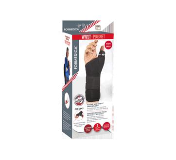 Immobilisation pour pouce et poignet Fix-Loc , 1 unité, droit, 15 - 23 cm, petit/moyen, noir