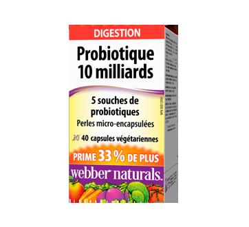 Image 1 du produit Webber Naturals - Webber Naturals Probiotique 10 milliards, capsules végétariennes, 30 unités