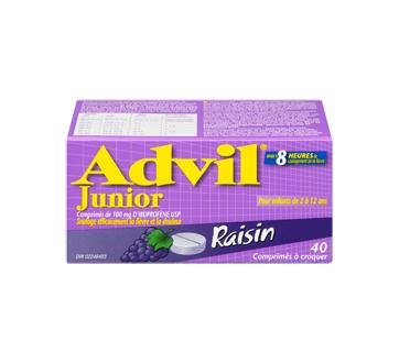Image 3 du produit Advil - Advil Junior comprimé à croquer, 40 unités, raisin