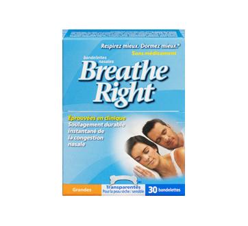 Image 3 du produit Breathe Right - Bandelettes nasales, 30 unités, grandes, transparentes