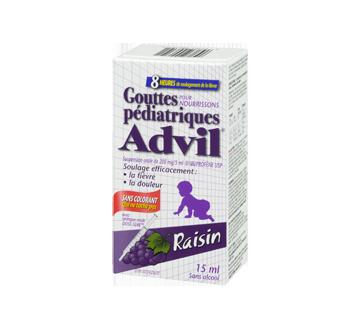 Image 1 du produit Advil - Advil Pédiatrique gouttes sans colorant, 15 ml, raisin