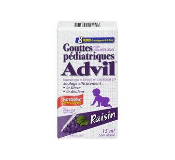 Image 3 du produit Advil - Advil Pédiatrique gouttes sans colorant, 15 ml, raisin