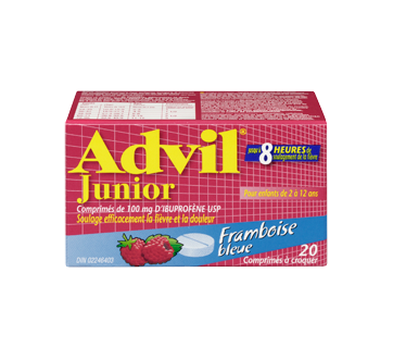 Image 3 du produit Advil - Advil Junior comprimé à croquer, 20 unités, framboise bleue