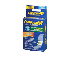 Image du produit Compound W - Compound W bandes invisibles pour usage en une étape, 14 coussinets médicamenteux