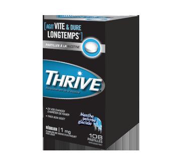 Image du produit Thrive - Pastilles à la nicotine régulier 1 mg, 108 unités, menthe poivrée glaciale