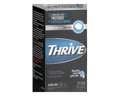 Image du produit Thrive - Pastilles à la nicotine régulier 2 mg, 108 unités, menthe poivrée glaciale