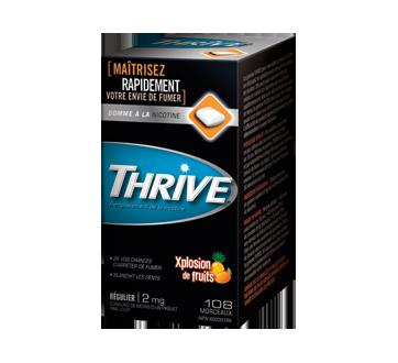 Image du produit Thrive - Gommes à la nicotine régulier 2 mg, 108 unités, xplosion de fruits