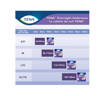 Image 4 du produit Tena - Overnight culottes pour incontinence absorption de nuit, 12 unités, moyen