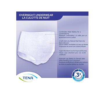 Image 5 du produit Tena - Overnight culottes pour incontinence absorption de nuit, 12 unités, moyen