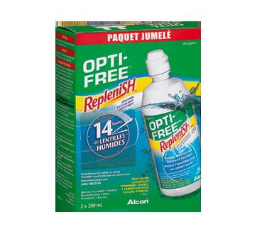 Image du produit Opti-Free - Replenish solution polyvalente désinfectante, 2 x 300 ml