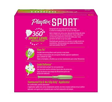 Image 2 du produit Playtex - Tampons Playtex Sport en plastique, 36 unités