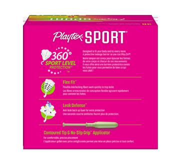 Image 2 du produit Playtex - Tampons Playtex Sport en plastique, 36 unités, régulière, non parfumés