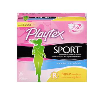 Image 3 du produit Playtex - Tampons Playtex Sport en plastique, 36 unités, régulière, non parfumés