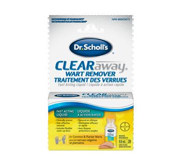 Image 1 du produit Dr. Scholl's - Clearaway traitement contre les verrues liquide à action rapide, 9,8 ml