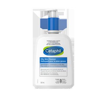 Image du produit Cetaphil - Nettoyant pour la peau grasse, 500 ml, sans parfum