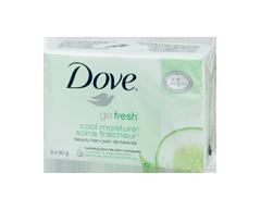 Image du produit Dove - Go Fresh Pain de beauté, 2 x 90 g, cool moisture®