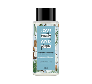 Image du produit Love Beauty and Planet - Volume & Bounty shampooing, 400 ml, eau de coco et fleur de mimosa