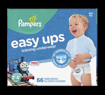 Easy Ups sous-vêtements d'entraînement, 66 unités, taille 5, 3T-4T
