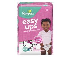 Image du produit Pampers - Easy Ups sous-vêtements d'entraînement pour filles, 18 unités, taille 6 4T-5T