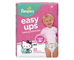 Image du produit Pampers - Easy Ups sous-vêtements d'entraînement pour filles, 22 unités, taille 5 3T-4T