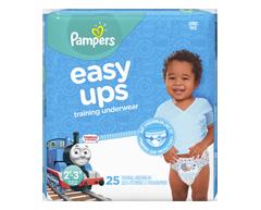 Image du produit Pampers - Easy Ups sous-vêtements d'entraînement pour garçons, 25 unités, taille4 2T-3T