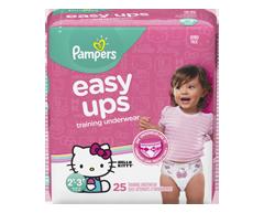 Image du produit Pampers - Easy Ups sous-vêtements d'entraînement, 25 unités, taille 4, 2T-3T