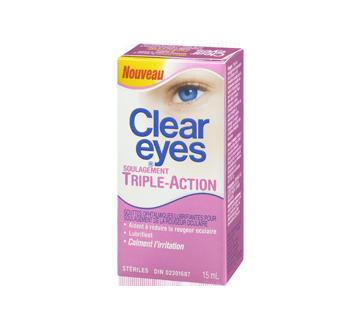 Image 1 du produit Clear Eyes - Clear Eyes triple action, 15 ml