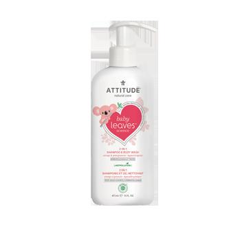 Baby Leaves 2 en 1 shampoing et gel nettoyant, 473 ml, orange et grenade