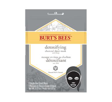 Masque en tissu au charbon détoxifiant, 9,35 g