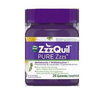 Image du produit Vicks - ZzzQuil comprimés gélifiés aide-sommeil à base de mélatonine, 1mg, 24 unités