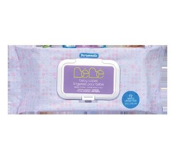 Lingettes pour bébé parfumées, 72 unités