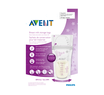 Image 1 du produit Avent - Sacs de conservation du lait maternel, 25 unités