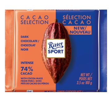 Sélection Cacao chocolat noir, Pérou 74%, 100 g
