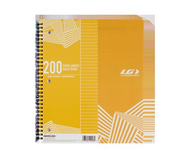 Cahier spiral 200 pages, 1 unité, jaune