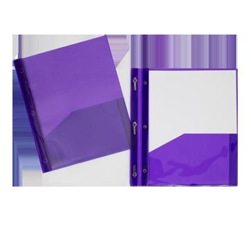 Portfolio de plastique avec couverture claire, 1 unité, mauve