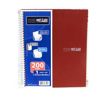 Cahier de note 1 sujet 200 pages, 1 unité, rouge