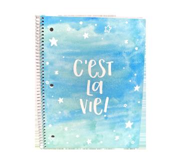 Cahier de note, 1 unité, C'est la vie bleu et vert