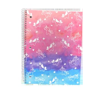 Cahier de note, 1 unité, licorne rose et mauve