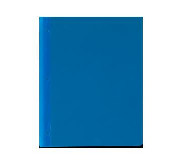 Portfolio en plastique, 1 unité, bleu