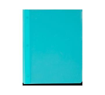 Portfolio en plastique avec pochettes, 1 unité, turquoise
