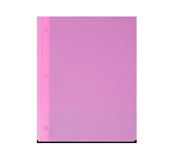 Portfolio en plastique, 1 unité, rose