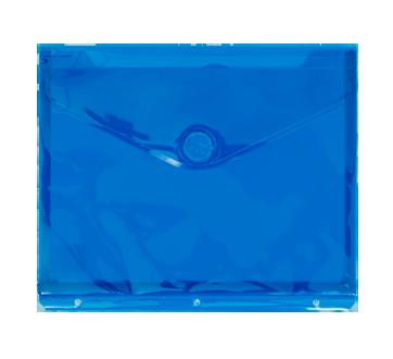 Enveloppe de plastique transparente 3 trous, 1 unité, bleu