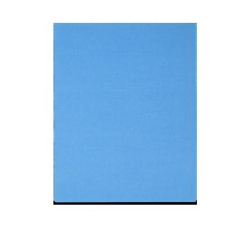 Portfolio en carton avec pochettes, 1 unité, bleu